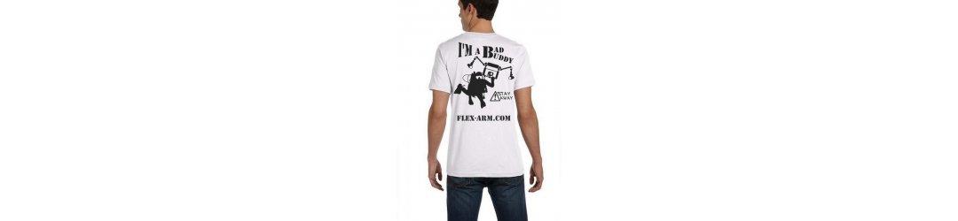 Unisex Cotton T-Shirt FLEX-ARM (I'M A BAD BUDDY)