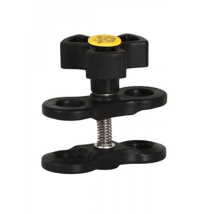Clamp for Ball Joint Arm Systems with 1-Inch Ball Black-Yellow