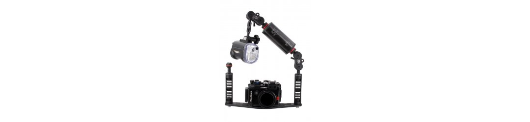 UNDERWATER CAMERA HOUSING TRAY WITH CARBON FIBER FLOAT ARM and YS-MOUNT