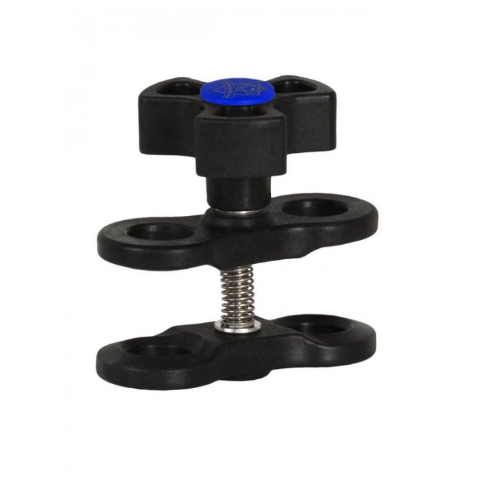 Clamp for Ball Joint Arm Systems with 1-Inch Ball Black-Blue