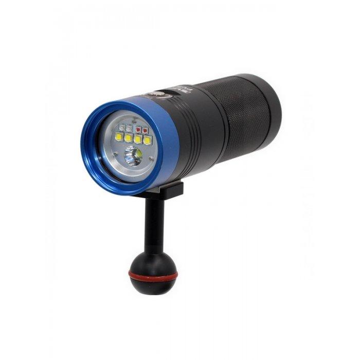 Scubalamp Foco Fotografía  Vídeo 3000 Lumen Luz Blanca-Roja-Rosada-Azul Uv