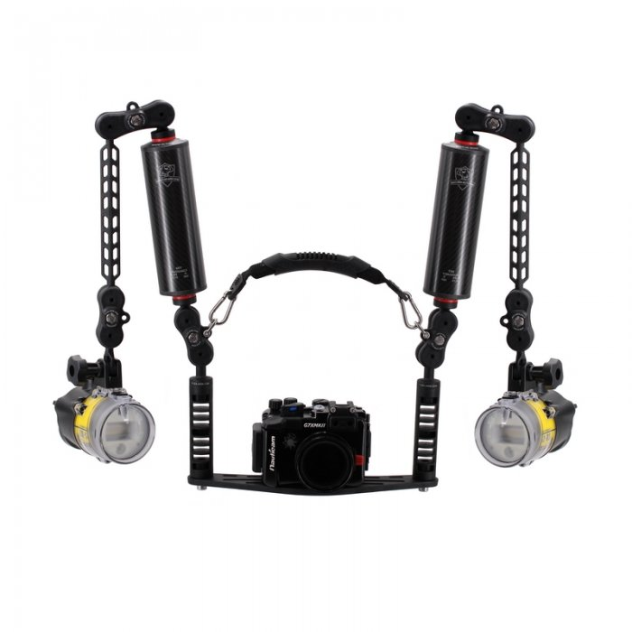 UNDERWATER CAMERA HOUSING TRAY WITH CARBON ARM SET YS MOUNT ADAPTER - EVO PACK