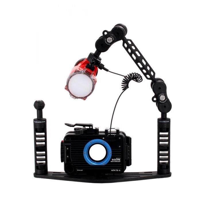 PACK UNDERWATER HOUSING WEEFINE FOR OLYMPUS TG6 - TG5 AND INON S2000 UNDERWATER STROBE