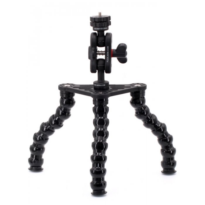 UNDERWATER TRIPOD WITH FLEXARM AND  1/4-20 UNC MALE THREADED  FOR CAMERAS