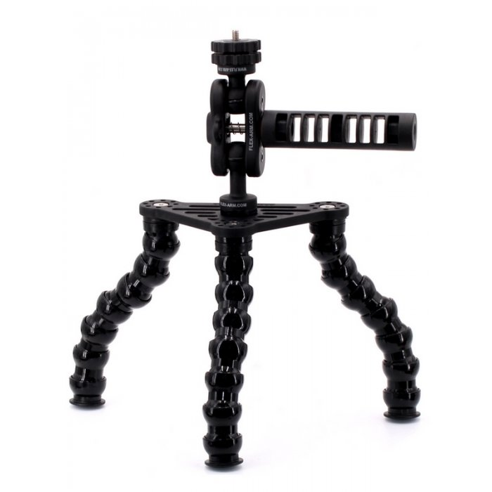 Underwater Tripod with Flexarm and 1/4-20 Unc Male Threaded for Cameras - Pro