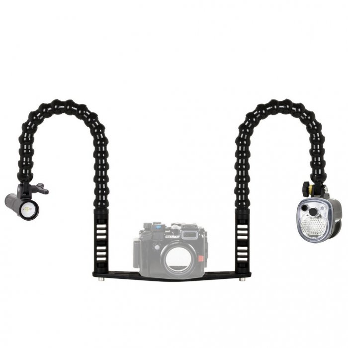 Underwater Camera Tray Package with Sea and Sea YS-01 Strobe and Video Light Supe PV22