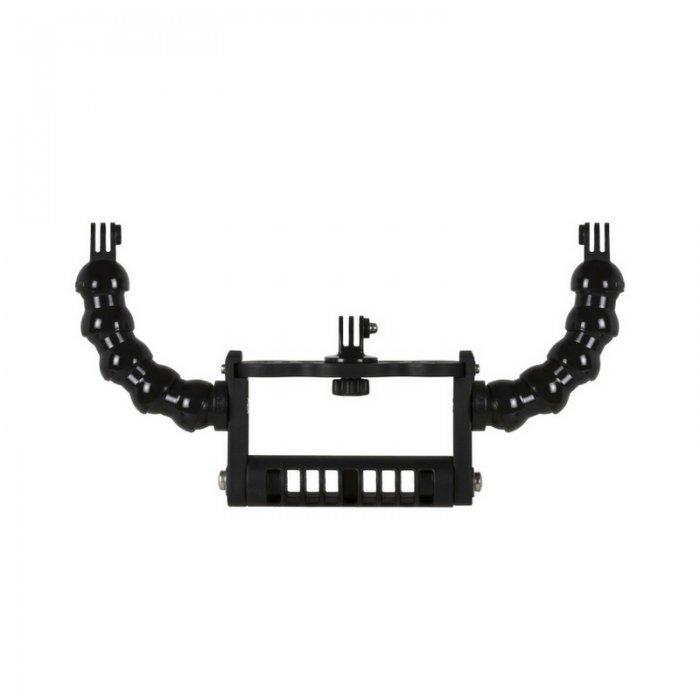 Maniglia Goodman con Bracci Flessibili 3/4 Terminale Supporto Torce Tipo Qudos e Adattatore Action Cam  GoPro