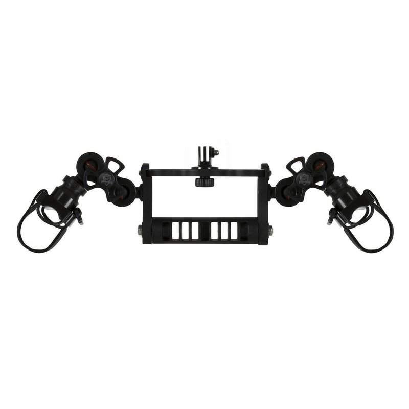 Goodman Handle With Ball Joints -Clamp and Lights Adapter GoPro Mount Adapter