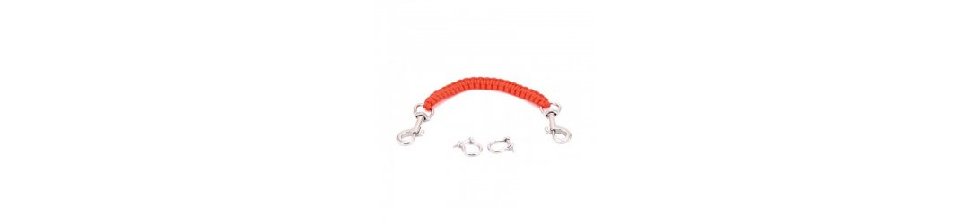 Lanyard Paracord Red with Snap Clips and Shackles
