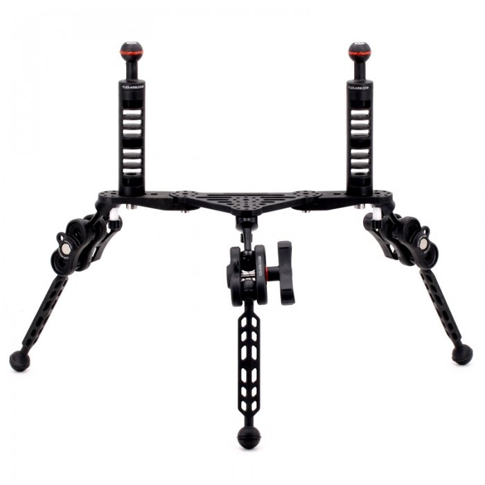 Underwater Camera Tripod Tray with Handles Double Ball