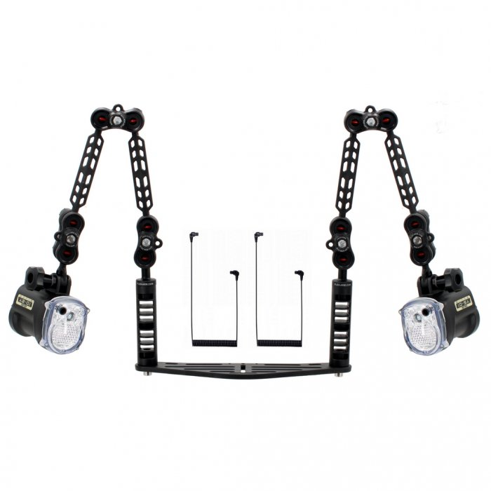 Underwater Tray for Camera Housing Package with Double Sea and Sea Ys-01 Solis Strobe