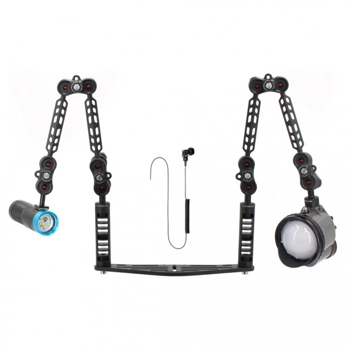 Underwater Tray Package with Inon z330 Strobe and Scubalamp PV32T Photo Video 3000 Lumen