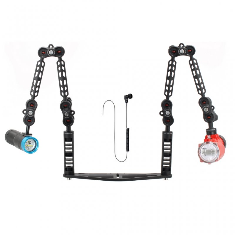 Underwater Tray Package with Inon S2000 Strobe and Scubalamp PV32T Photo Video 3000 Lumen