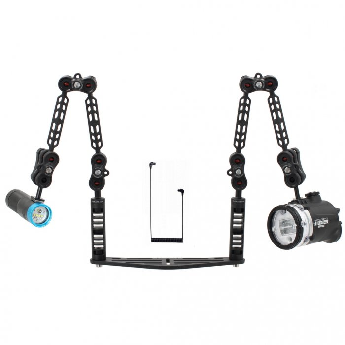Underwater Tray Package with Sea and Sea Ys-D3 Strobe and Scubalamp PV32T Photo Video 3000 Lumen