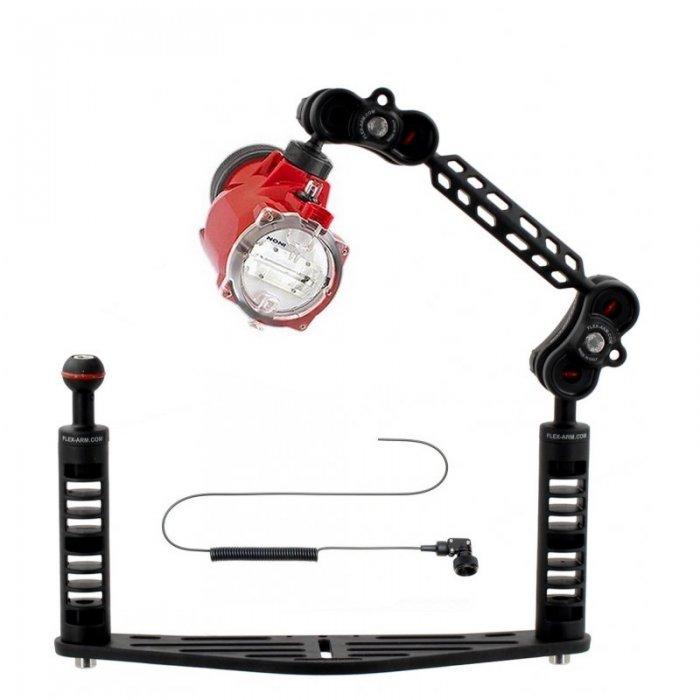 Kameraschiene für Unterwassergehäuse Set Inon S-2000 und Lichtleiterkabel Optisches