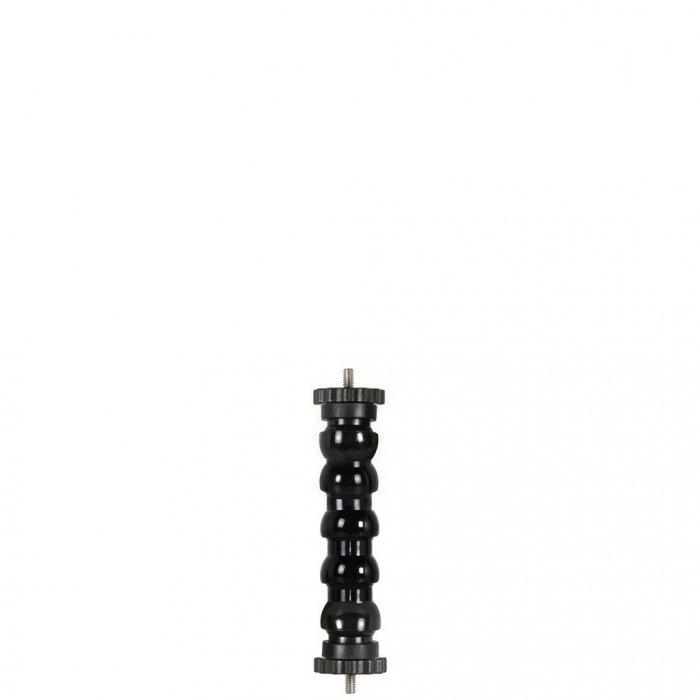 Braccetto Flessibile Doppio Filetto Fotografico Maschio 1/4-20 UNC con Ghiera Lung 14 cm