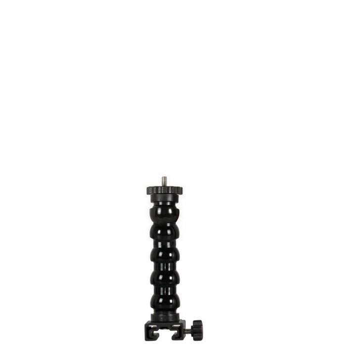 Flexible Arm With T-Connector Base and 1/4 Tripod Screw with Flange Disc Female Thread 16 cm