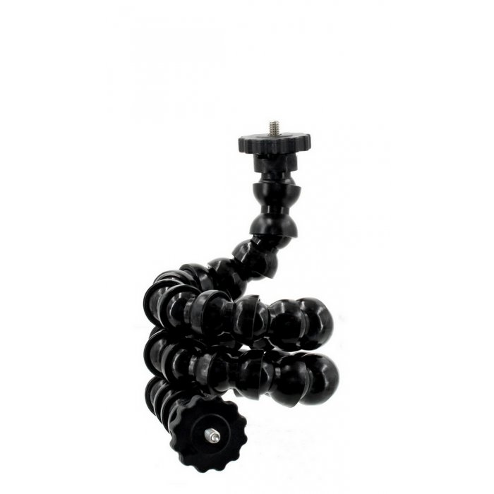 1/2 Flexible Arm Gooseneck With Double 1/4 Tripod Screw with Flange Disc Female Thread 68 cm