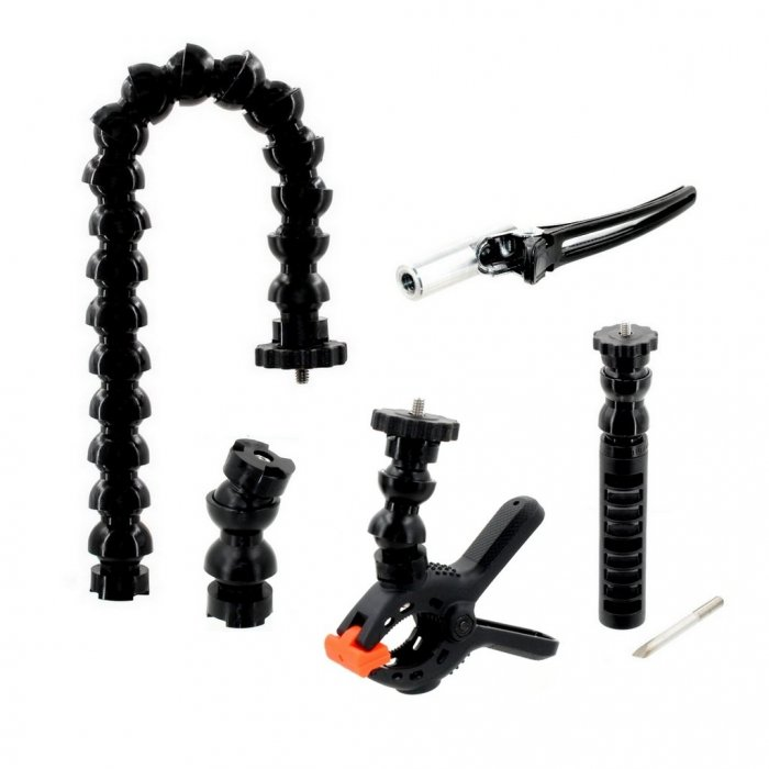 Kit Miniflex 1/2 Flexible Arm with Double Clamp for Macro Simple Pack