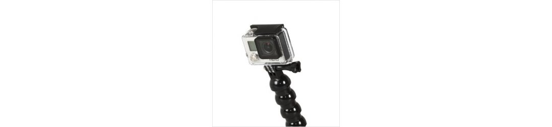 Handle M8 Female Thread with Flex Arm and Action Camera Mount for gopro Length 46 cm