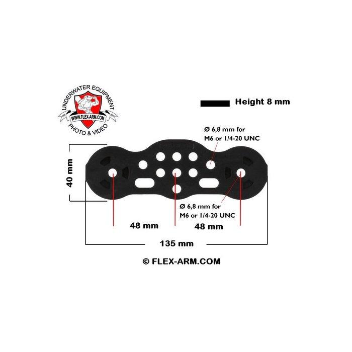 GO-TRAY Underwater Bracket with 3/4 Flex Arm Ys Adapter  for GoPro