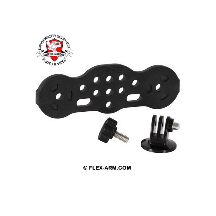GO-TRAY Underwater Bracket Handle with 1-inch Ball Joint and Lights Adapter for Qudos