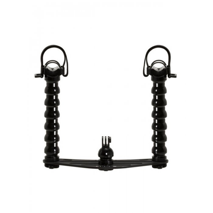 Underwater Tray and Flex Arms with Lights Adapter for Action Camera