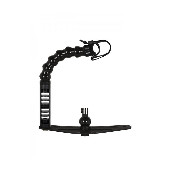 Underwater Tray With Single Handle and Flex Arm Universal Lights Adapter for Action Camera